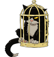 birdcage with a cat vector image vector image