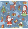 Blue holiday seamless pattern vector image vector image