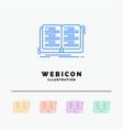 book education lesson study 5 color line web icon vector image
