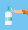 bottle of liquid antibacterial soap vector image vector image
