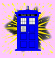 british police box with abstract explosion vector image