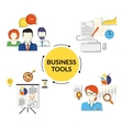 Business tools set vector image