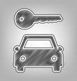 car key simplistic sign pencil sketch vector image vector image
