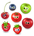 collection cartoon fruit vector image vector image