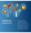 Concept of medical background Human anatomy vector image