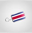costa rica flag icon design vector image