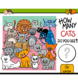 counting cats task for children vector image vector image