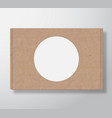 craft cardboard box container with clear white vector image vector image