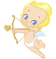 cupid with arrow vector image