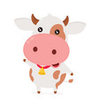 cute smiling happy funny little cow vector image vector image