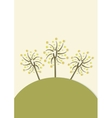 Decorative trees background with doodle tree vector image vector image