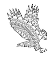 eagle icon coloring animal vector image