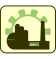 factory and gear outline vector image vector image