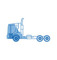 farm truck trailer agriculture vehicle transport vector image vector image