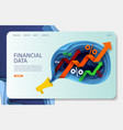 financial data website landing page design vector image