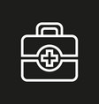 first aid icon on black background vector image