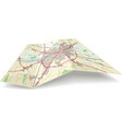 folding map vector image vector image
