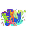 friends party concept in colorful gradient vector image vector image