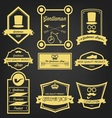 Gentleman Shop Vintage Label vector image vector image