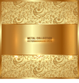 golden metal plate vector image vector image