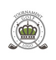 golf tournament logo elegant vintage label for vector image vector image