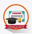 graduation cap diploma university icon vector image vector image