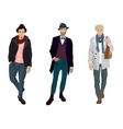 Handsome young guys in fashion and casual clothes vector image
