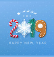 happy new year 2019 greeting card creative vector image vector image