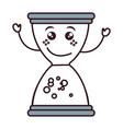 hourglass time kawaii character vector image vector image