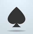 icon of Spades card suit vector image vector image