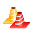 icon traffic signs vector image vector image