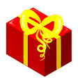 isothermal packing of a red gift with a yellow vector image vector image