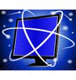 IT Computer Screen vector image