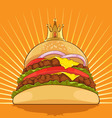 King Burger vector image