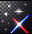 laser beams with stars vector image