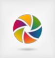 lens multicolor icon vector image vector image