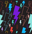 lightning seamless pattern colored lightning vector image vector image