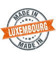 luxembourg orange grunge ribbon stamp on white vector image vector image