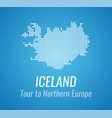 map silhouette of iceland with caption and vector image vector image