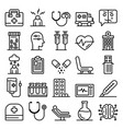 mental hospital icons set outline style vector image vector image