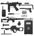military weapon army special forces arms vector image vector image