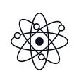 molecule atom isolated icon vector image vector image