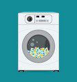 money dollars banknotes in washing machine vector image vector image