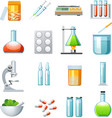 Pharmacology Flat Icons Collection vector image vector image