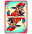 pirate card for gaming vector image vector image