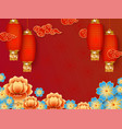 red background template with empty space for vector image vector image