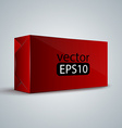 red wrap box package vector image