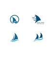 sailing boat logo template vector image vector image
