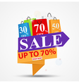 Sale Banner Design for shop and vector image vector image