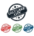 Salt Lake City stamp set vector image vector image